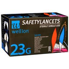 Lancetas de segurança Pro 23G (200 unidades)