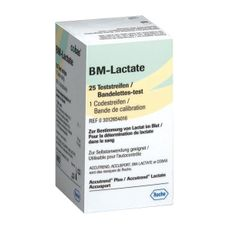 Testes para Accutrend GCT Tiras Lactate (Bm-Lactate) Cx. 25
