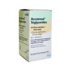 Testes para Accutrend GCT Tiras Triglicéridos Caixa 25