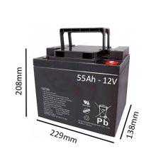 Bateria para Cadeira de Rodas Elétrica Invacare 12V 50AH