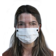 Máscara de Proteção Lavável com Viseira